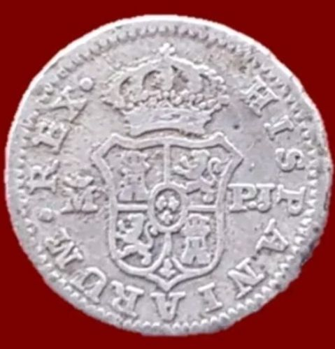 España - Carlos III 1/2 Real de plata, Madrid 1788 - 15 mm / 1,49 gr
