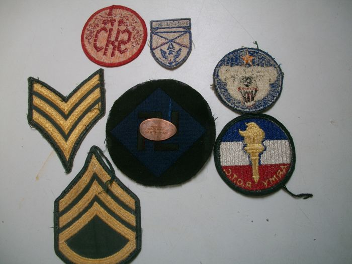 Lot of WWII US Army Patches with rare 45th infantry
