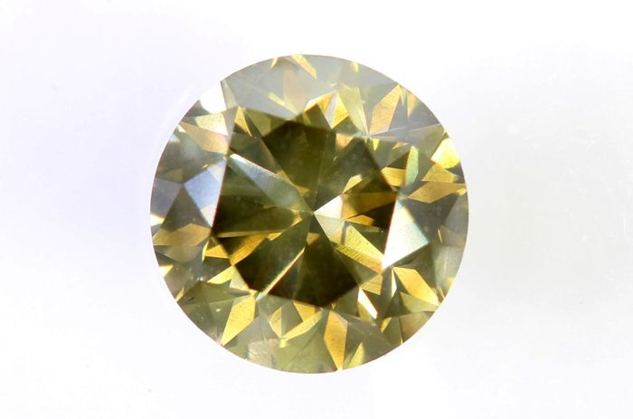 AIG Sealed Diamond - 0.85 ct - Fancy Yellowish Greenish Brown - SI1