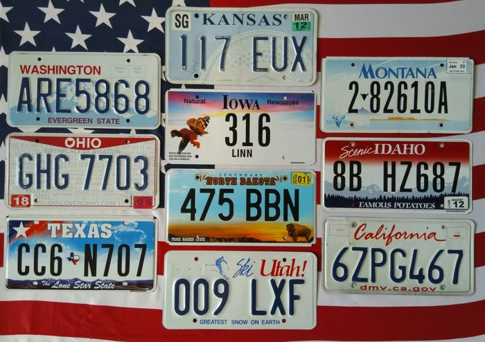Number Plates - --- - 1990-2016 (10 items)