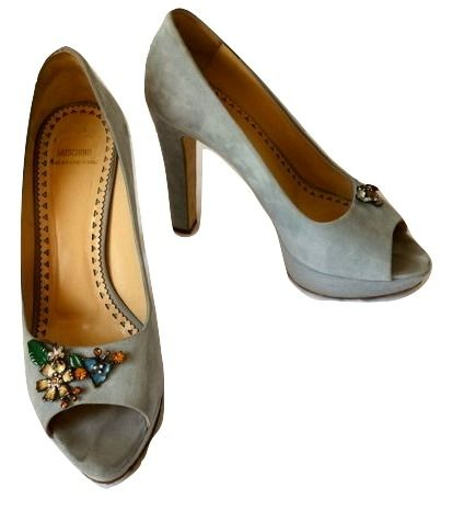 Moschino cheap and chick - Suede pumps peeptoe
