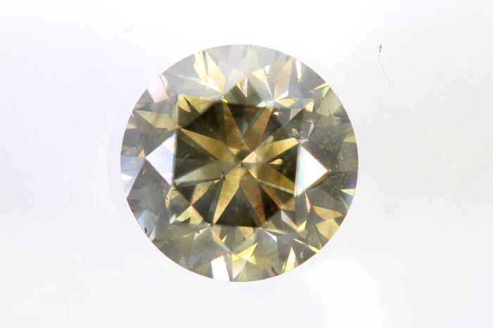* NO RESERVE PRICE * -  AIG Sealed Diamant - 0.85 ct - Fancy Yellowish Brown - SI2