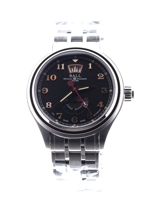 BALL - Trainmaster Cleveland Express Power Reserve Automatic Black Dial Full Steel - PM1058D-SJ-BK - Unisex - 2019