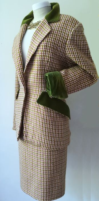 Hermès - Luxury wool & cashmere jacket with pencil skirt