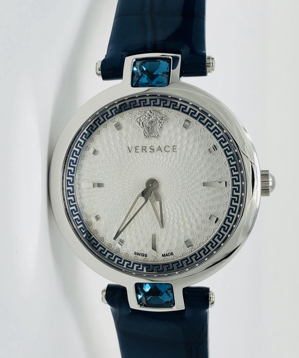 Versace - Olympo Blue with Crystals - Leather Strap - VAN020016 - Dames - 2011-heden