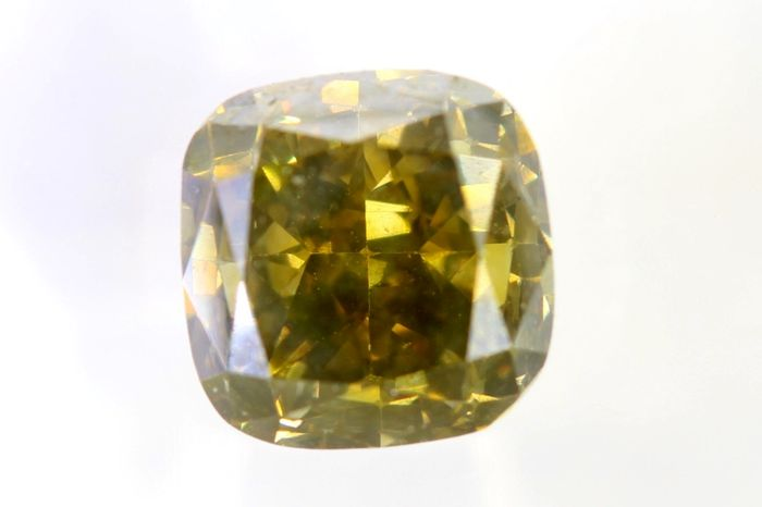 AIG Sealed Diamant - 1.53 ct - Fancy Deep Greenish Yellowish Brown - SI2