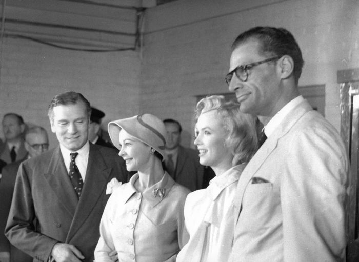 Milton Greene (1922-1985) - Marilyn Monroe, Arthur Miller and Laurence Olivier, Viviene Leigh, 1956