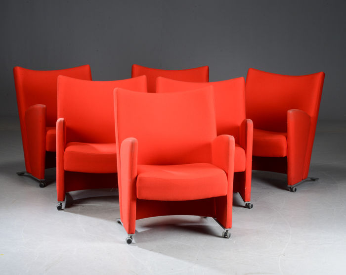 Christina & Lars Andersson for EFG – set of sixchairs, model Carat