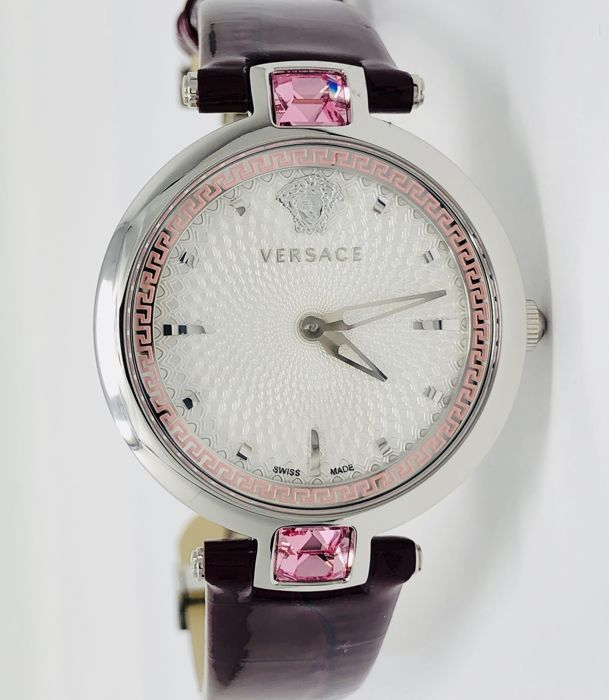 "Versace - Olympo Purple Leather Strap ""NO RESERVE PRICE"" - VAN010016 - Women - 2011-present"