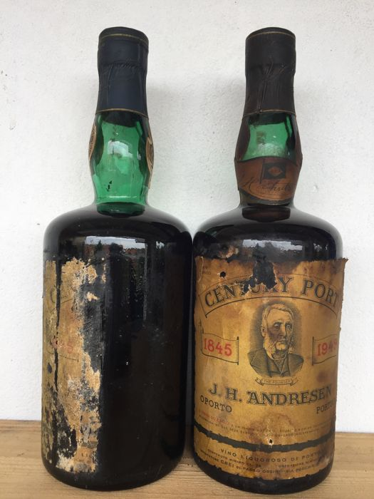 "Andresen ""Century Port"" 1845-1945 - 2 bottles"