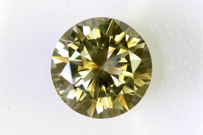AIG Sealed Diamond - 0.88 ct - Fancy Yellowish Greenish Brown - SI2