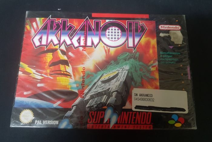 Arkanoid Doh it Again - Sealed - Snes Video Game With Box and Booklet