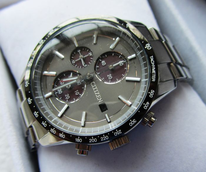 "Citizen - Eco-Drive Metal Face Chronograph ""Collection""  - CA0454-56H - Heren - 2011-heden"