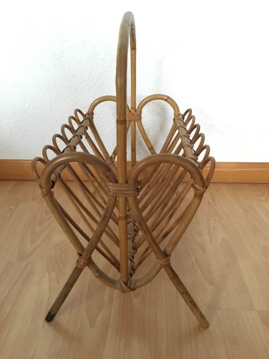Unknown designer - magazine rack - bent bamboo. 1970s