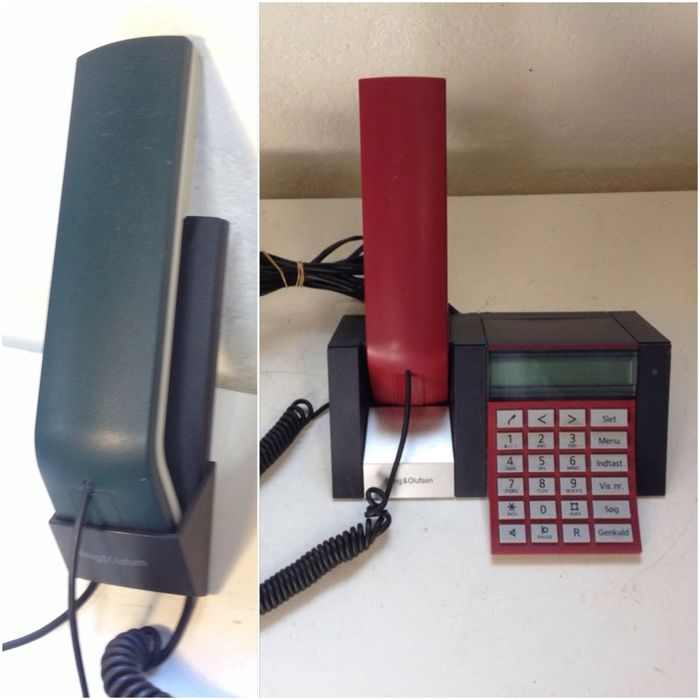 Bang & Olufsen BeoCom 2500 + 1401 Phones - Rare RED & GREEN Colour - Martin Iseli Design