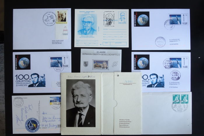 Hermann Oberth and Wernher von Braun - Philatelic Souvenirs