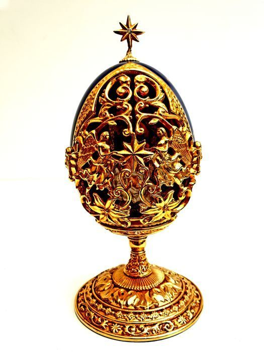 House of Fabergé - A King is Born Collector's Egg - 24K gold-plated