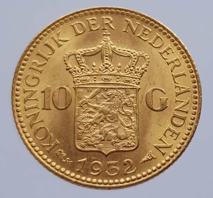 Netherlands - 10 Gulden 1932 Wilhelmina - Gold