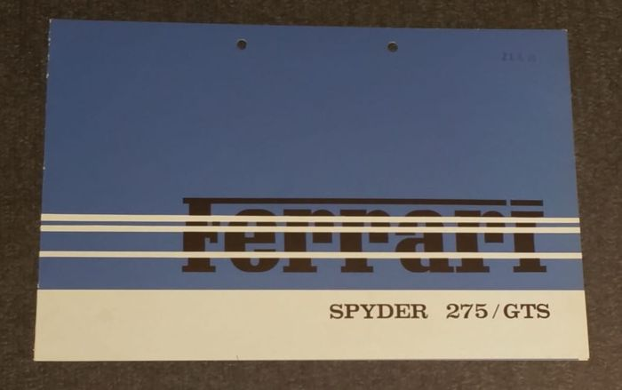 Brochures/ Catalogues - 275 Spyder / GTS - 1964-1964 (1 items)