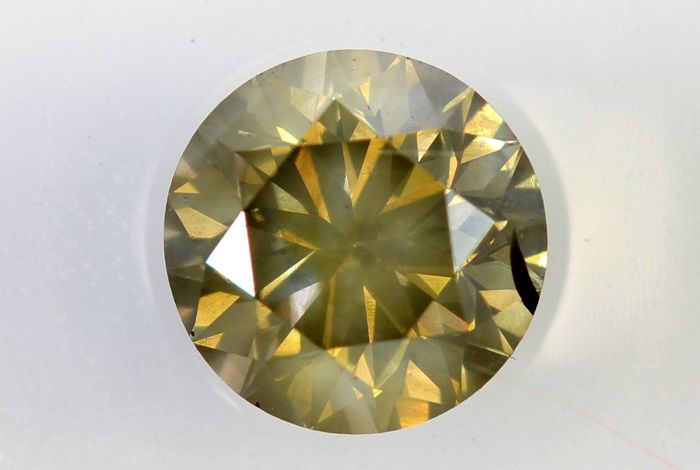 AIG Sealed Diamond - 0.74 ct - Fancy Light Yellowish Brown - SI2
