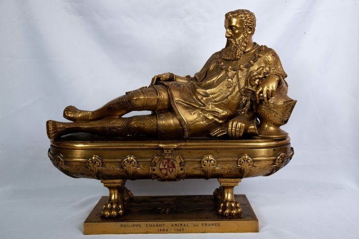Tomb of General Chabot - sculpture in bronze after the model of the Renaissance - France - 19th century