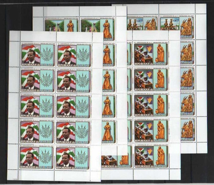 Burundi 1986 - No. 949A/D, never issued, in sheets of ten - OBP / COB