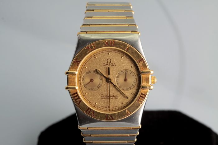 Omega -  Constellation **Full Bar Goud/ Staal - Heren - 1990-1999