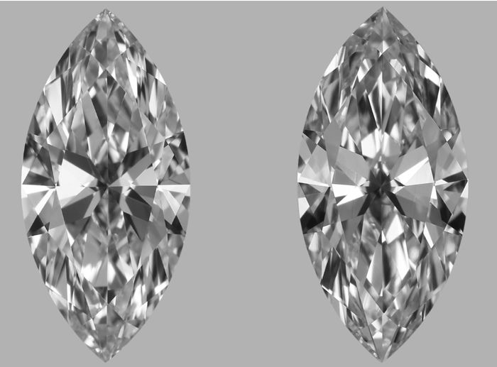 Pair of Marquise Cut Diamonds 1.05 ct total D IF GIA - Low Reserve Price - #J309-J483
