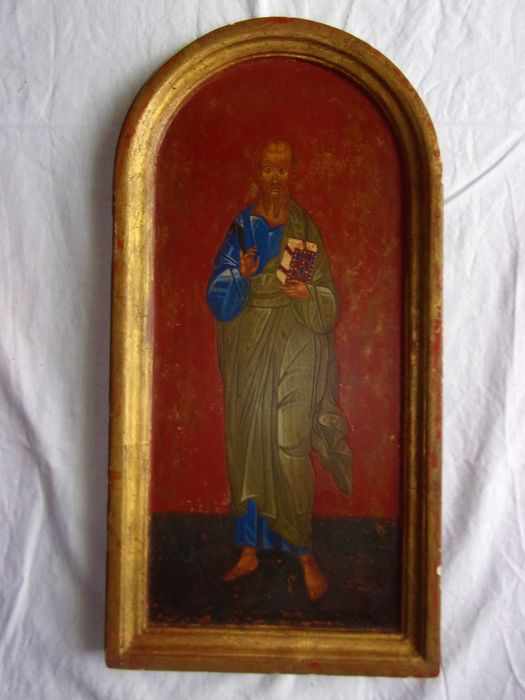 Icon painted on wooden panel - 19th century
