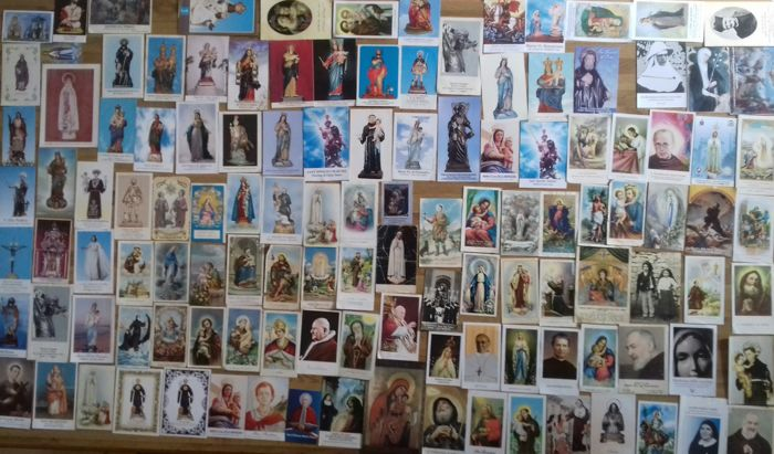 About 200 rare holy cards from Calabria and Italy