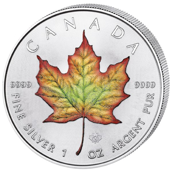 Canada - 5 Dollar 2017 Maple Leaf Color edition  - Silver