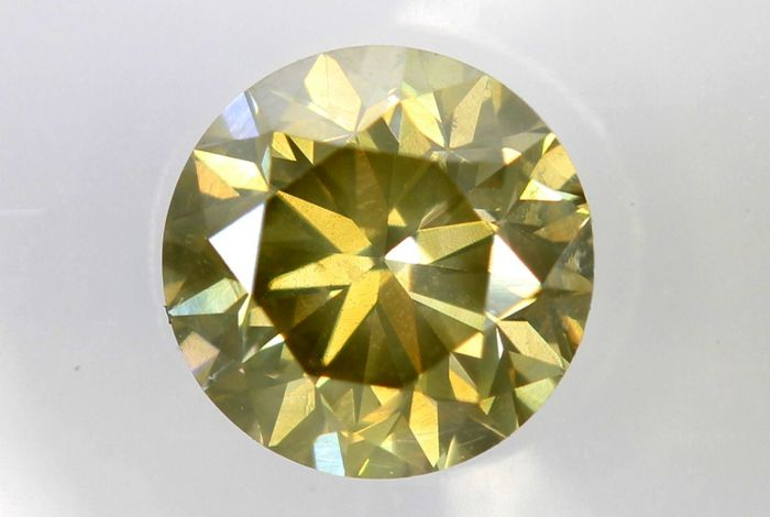 AIG Antwerp Sealed Diamond - 0.80 ct - Fancy Light Yellowish Brown - SI1 - * NO RESERVE PRICE *