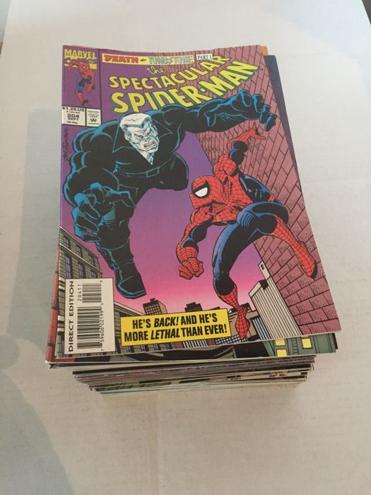 Spectacular Spider-man (1974) # 204-263 + Annuals 13 & 14   with Carnage & Green Goblin (Norman Osborn)  64 X S.C.  Marvel comics