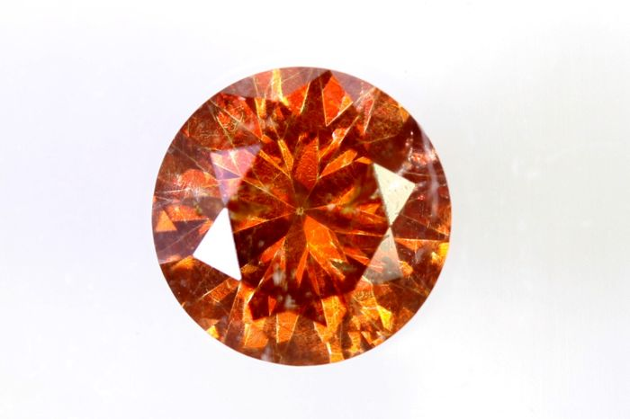 Vivid Orange Diamond - (Colour Treated) - 0.70 ct