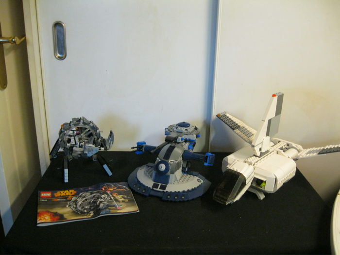 Star Wars - 8018 +7659 + 75040 - Separatist aat + Imperial Landing Craft +General grievous Wheel Bike