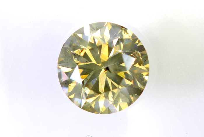 * NO RESERVE PRICE * - AIG Sealed Diamant - 0.74 ct - Fancy Light Yellowish Brown - SI2