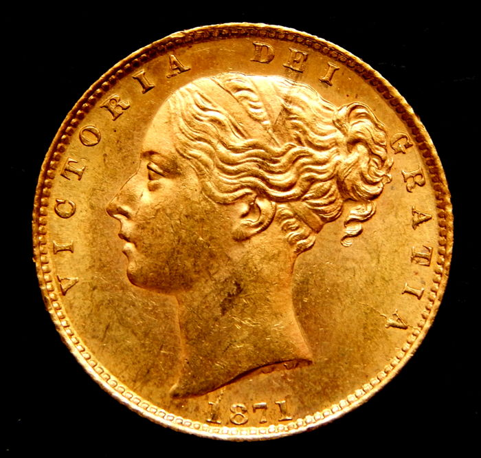 United Kingdom - Sovereign 1871 (Shieldback) Victoria - gold