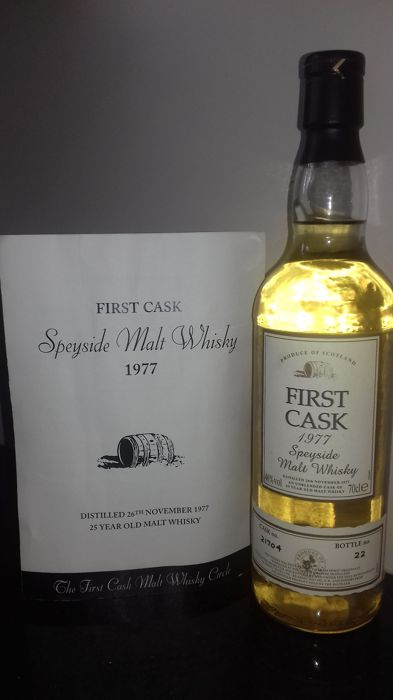 First Cask 1977 25 years old - Speyside Malt Whisky