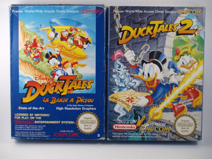 nes ducktales and ducktales 2 boxed catawiki