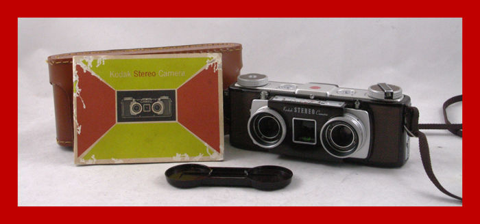 kodak stereo camera in new condition from 1954 1959 with leather rh auction catawiki com Kodak Stereo Camera Vintage Kodaslide Stereo Viewer