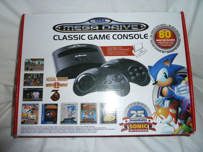 SEGA Mega Drive Classic Game Console 80 built in games (Sonic 25th) 20th century