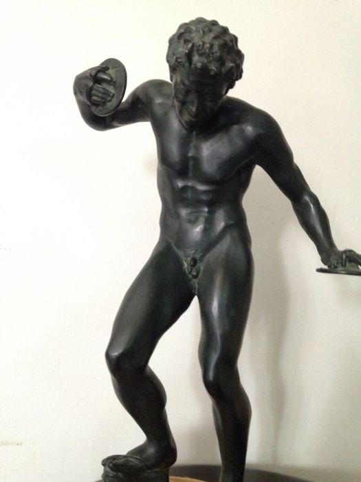 Faun with cymbals - bronze - mid 1800s - Italy