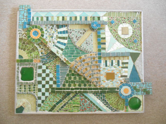 Cees Witters - Mosaic in green: accross the border