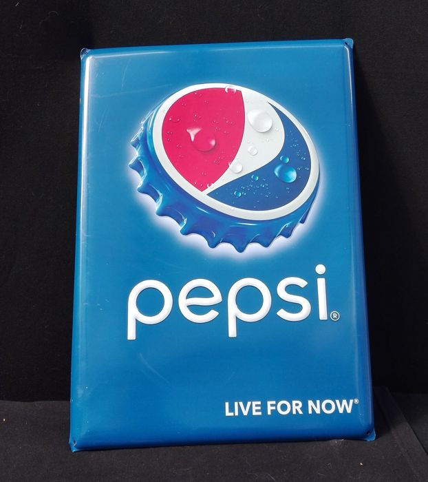 A vintage Pepsi Advertising sign