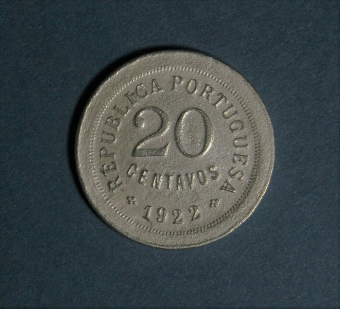 Portugal, Republic - 20 Centavos 1922 - Cupro-Nickel - Very Rare
