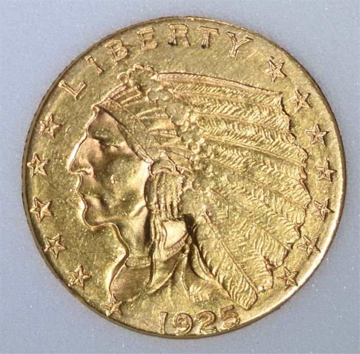 United States - 2.5 Dollar 1925-D 'Indian' - Gold