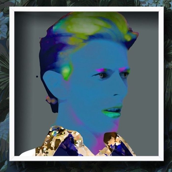 Stunning David Bowie Signed  Limited Edition Giclee - Pop art - With Certificate Of Authenticy - Nr 2 / 70