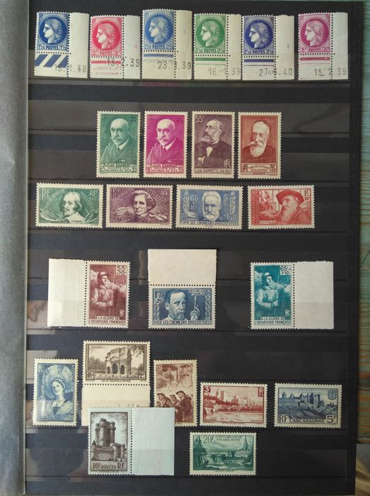 France 1938/1939 - 2 Complete years - Yvert 372/450