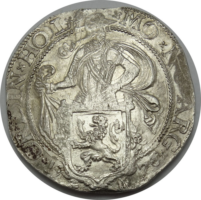 The Netherlands, Holland - 'Leeuwendaalder' 1576 on Dutch monetary standard - silver