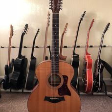 Taylor 355 2001 Natural Jumbo 12 String Acoustic Guitar with Case